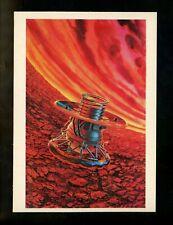 Space postcard Russian Concept Art Artist Sokolov 1978 chrome Venus probe