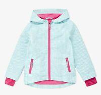 New John Lewis Girls Geo Spot Lightweight Hooded Jacket, Blue, RRP £30