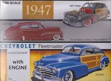 1947 Chevrolet Fleetmaster Aerosedan  1/25th Plastic Model Kit #13032 Galaxie