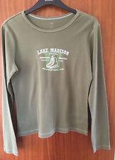 Tommy Hilfiger Ladies Green Round Neck Long Sleeve T Shirt, Size Medium
