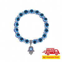 Turkish Evil Eye Bracelet Hamsa Hand Greek Mati Bangle Jewellery for Adults
