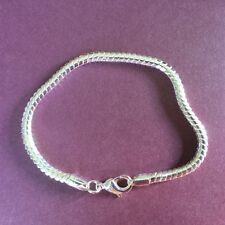 SB 16 Silver bracelet 20cm x 4.5mm snake chain links 925 stamped Plum UK BOXED