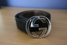 Genuine Mens Gucci Belt (Black) 36 - 40 with Dust bag and Box (Size 100 ITL)