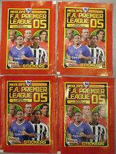 MERLIN'S F.A. Premier League 05 Adesivi Ufficiali Collezione 4 pacchetti non aperti