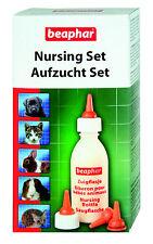 Beaphar Aufzucht Set - Nuckelflasche, Bürste, Sauger Aufzuchtflasche Hund Katze