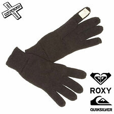Quiksilver ROXY 'true Black' Womens Gloves Knitted Touchscreen Smart Phone