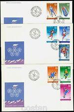 1987 CALGARY Olympics,Bobsled,Ice Hockey,Biathlon,Luge,Ski,Romania,Mi.4418,FDC