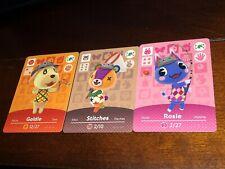 Goldie Rosie Stitches Animal Crossing New Horizons Amiibo Card AUTHENTIC