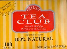 CEYLON Orange Pekoe & Pekoe cut Black TEA (100 TEA BAGS TOTAL) SEALED BOX