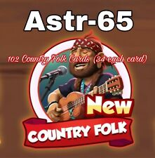 102 Cards- Country Folk Set- 34 Each Card- Coin Master Cards- Fast Delivery
