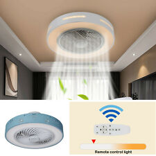 20inch Modern Ceiling Fan Light Remote Control Led Lamp Dimmable Bedroom Office