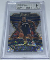 Zion Williamson 2019 20 Select Concourse Silver Prizm Fastbreak RC BGS 9 MINT