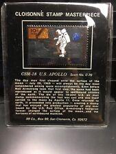 Cloisonne Stamp Masterpiece Csm-18 U.S. Apollo Scott No. C-76 Bronze