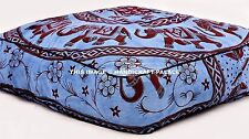 Indian Elephant Mandala Floor Pillow Large Ottoman Pouf Square Outdoor Dog Bed