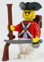 LEGO PIRATES IMPERIAL BRITISH ARMY SOLDIER MINIFIGURE RED - MADE OF GENUINE LEGO