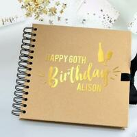 Personalised Birthday Photo Album & Scrapbook for Birthday Messages and Photos