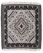 #5000 Native American Southwest Design Diamond Navajo Accent Throw Blanket Rug