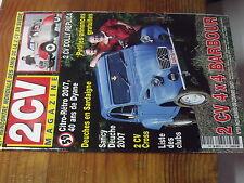 7µ?§ Revue 2CV Magazine n°59 2 CV Dolly Replica 2CV 4X4 Barbour