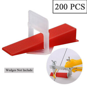 200 PCS Tile Leveling Spacer Clips Alignment Leveler Spacer Tool 1MM & 2MM