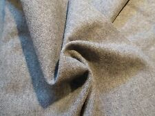 Gray Heavy-Weight Brushed 100% Wool Suiting