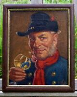 altes Ölgemälde signiert Männerportrait Der Husar perfekte Künstlerarbeit
