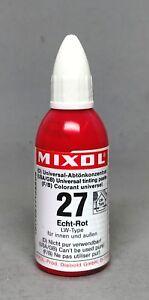 Mixol #27  FAST RED  Universal Tint 20ml Bottle FREE SHIP