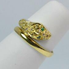 Emerald Yellow Gold 18Carat Ring Vintage Fine Jewellery