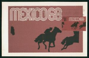 MayfairStamps Mexico 1968 Pre-Olympic Equestrian Card wwp80599