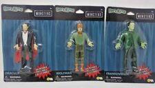 2019 Universal Studios Monsters Wolfman Dracula Frankenstein Bend-Em Figures