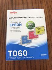 CYAN, MAGENTA, YELLOW Inkjet Cartridges EPSON Printers T060 Ships N 24h
