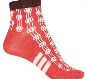 SockWell women's merino wool crew Socks size S-M deco dot poppy  NEW! ships free