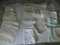 Mixed Lot of 58 Vintage Dinner Luncheon Tea Napkins Damask Cotton Embroidered