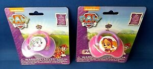 2 Girl Paw Patrol Dog PACIFIER with Covers - Skye & Everest - 0+ Months BPA Free