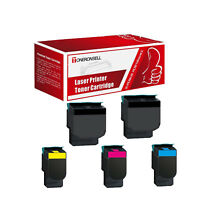 5PK Remanufactured C540H2KG CG MG YG For Lexmark Made in USA Toner HY For C540