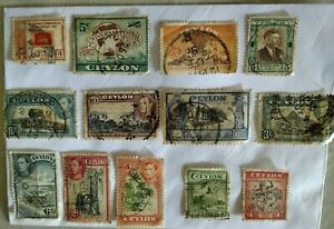 Ceylon Old Stamps Colections 💠💮🏵️