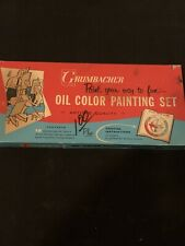 Vintage Grumbacher Oil Color Painting Set #321