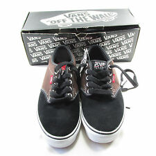 Vans Mens Atwood Skateboarding Shoes Sneakers Canvas Size 7 Black Brown New Box