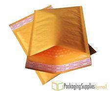 100 #0 7.25x9.75 Kraft Bubble Mailers Padded Envelopes Dvd