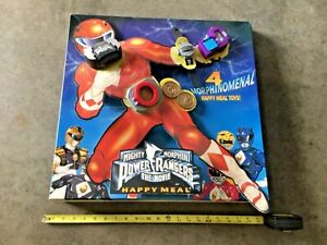 """RARE McDonalds Happy Meal """"Power Rangers The Movie"""" toy display!"""