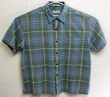 Orvis Mens Multi Color Plaid Short Sleeve Button Front XXL Shirt EUC