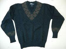 Polo by Ralph Lauren / V-Neck Cable-Knit 100% Wool Sweater / Xl / Deadstock