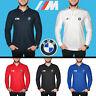 BMW M Power Polo T Shirt Manches Longues COTON Logo Brodé Auto Homme Chemise
