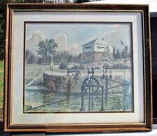 1982 Rideau Locks Print by Ben Babelowsky - Kingston, Canada - Kingston Mills