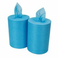 2 x Blue All Purpose Light Weight Cloth on a Roll 500 Sheets Jay Coth dishcloth