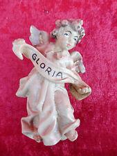 belle Chiffre en bois__figurine crèche__Ange__Gloria__sculpté etpeint__Tyrol__