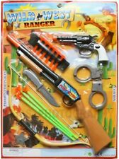 Complete Cowboy Set Toy Gun Pistol Revolver Wild West Soft Dart Rifle Shotgun