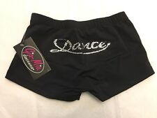 Gia-Mia Sequin Dance Short  G202  size LC  black and silver Yoga Jazz Hip Hop