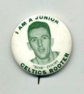 1950's Bob Cousy Boston Celtics Pin Pinback with 4 Basketball Hints Booklets