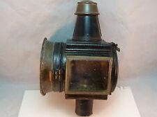 Antique Carriage Lantern Kerosene Large Buggy Lamp Copper Brass All Original