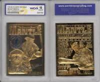 MICKEY MANTLE 1996 23KT Gold Card Commerce Comet Graded GEM MINT 10 * BOGO *